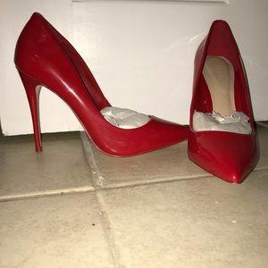 Aldo Shoes - Patent leather red pumps